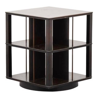 Mid Century Modern Edward Wormley for Dunbar Rotating Bookcase End Table For Sale