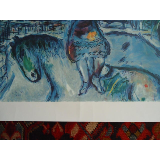 """Vintage Marc Chagall Reproduction """"Lovers Over Paris"""" Print For Sale - Image 4 of 11"""