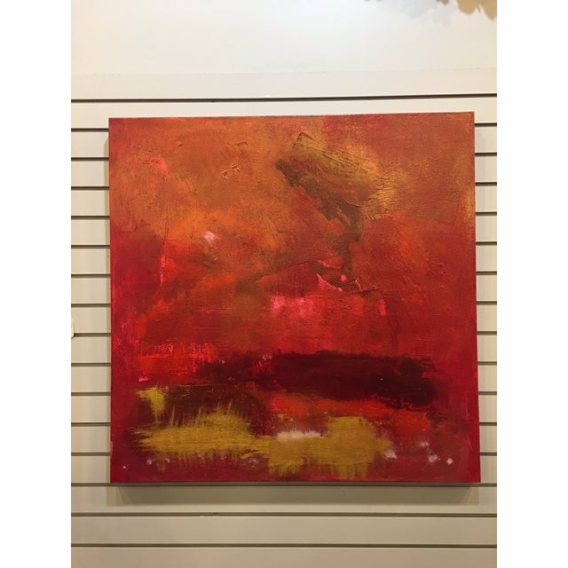 Firestorm Original Acrylic Abstract Painting For Sale - Image 5 of 5