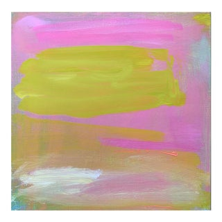 """Cloud Nine"" by Trixie Pitts Mini Abstract Expressionist Minimalist Oil Painting For Sale"