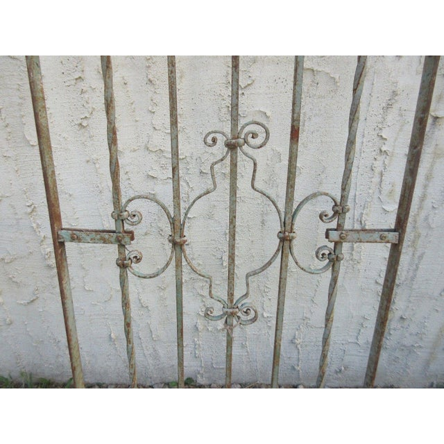 Antique Victorian Iron Gate or Garden Fence For Sale - Image 4 of 6