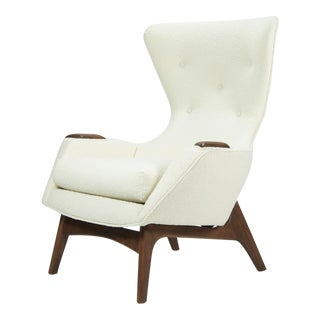 1960s Vintage Adrian Pearsall for Craft Associates Wingback Chair For Sale