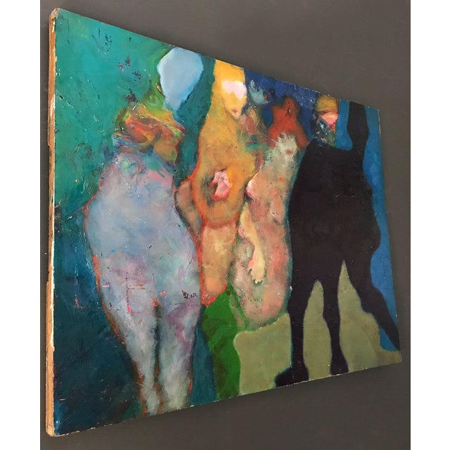 A Martin Sumers large 1970s oil on masonite. Born : New York City 1922 Died: New Jersey 2012 Occupation : Painter...