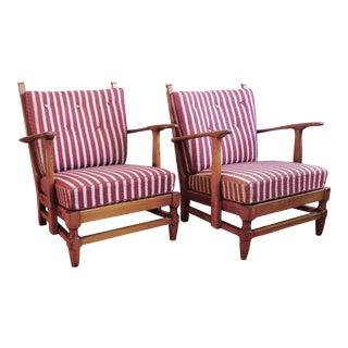 1940's Swedish Pine Lounge Chairs by Gunnar Göpert - a Pair For Sale
