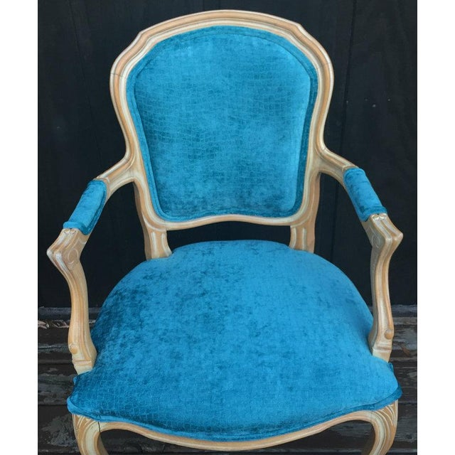 French Bergere Chairs - a Pair For Sale - Image 6 of 11