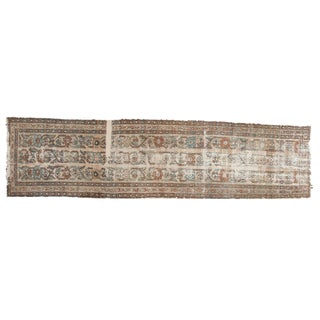 "Antique Distressed Fragment Lilihan Rug Runner - 2'5"" X 9'5"""