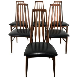 "Danish Modern ""Eva"" Chairs by Niels Kofoed Denmark - Set of 6 For Sale"