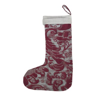 Vintage Fortuny Christmas Stocking For Sale