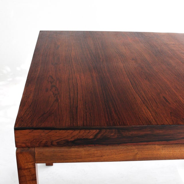 1960s Milo Baughman Thayer Coggin Rosewood Table For Sale - Image 5 of 9
