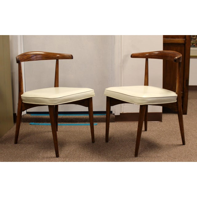 Brown Mid Century Modern Lawrence Peabody Craft Assoc.Dining Table & 6 Side Chairs - Set of 7 For Sale - Image 8 of 13