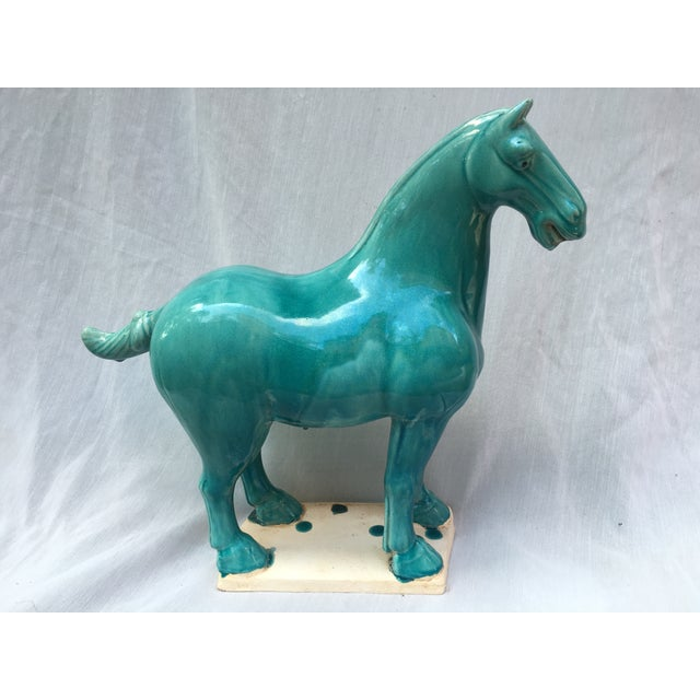 Chinese Tang Style Turquoise Horse - Image 2 of 6