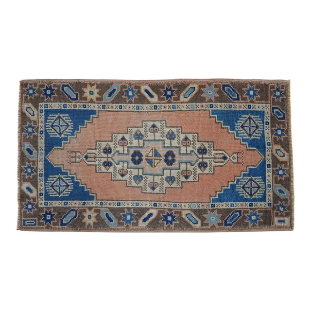 "Front of Kitchen Sink Rug Hand Made Bath Mat Faded Mini Rugs 2'2"" X 3'10"" For Sale"