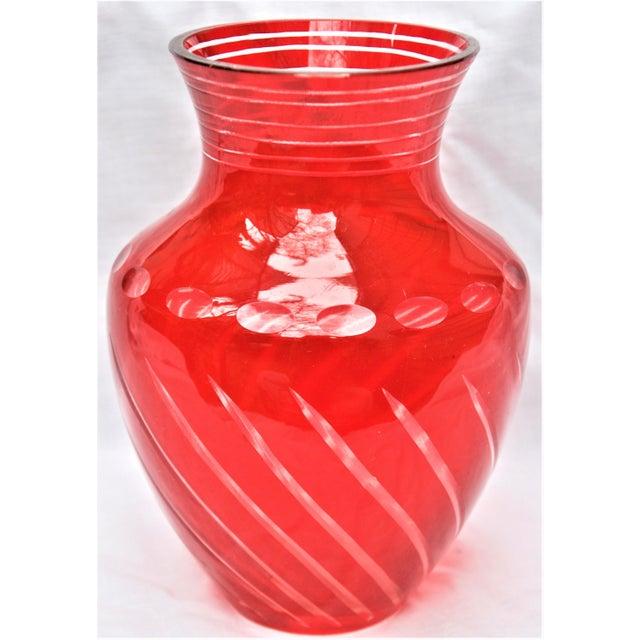 Faux Bohemian Glass Red Vase Chairish