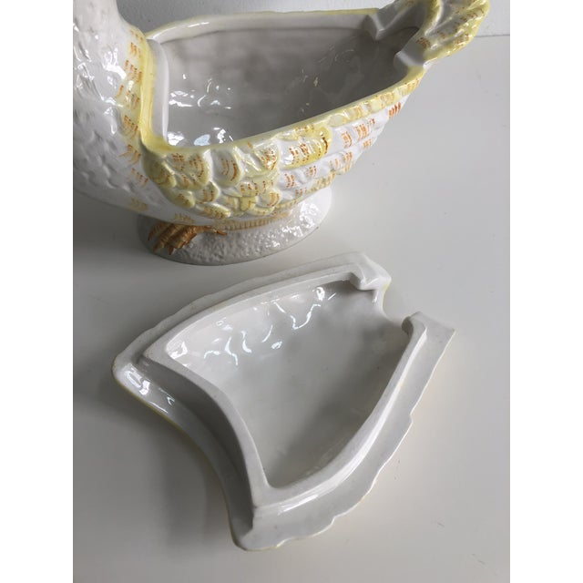 Italian Vintage Italian Duck Gravy Boat With Lid For Sale - Image 3 of 11