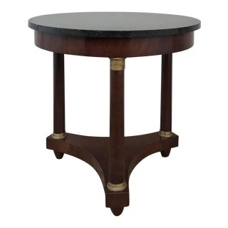 19th Century French Napoleon III Period Marble Top End Table ~ Gueridon For Sale