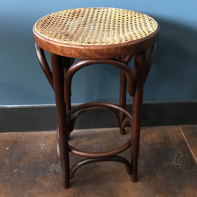 Bentwood Caned Counter Stool - Image 3 of 5