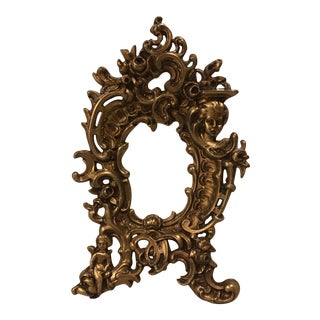 Vintage Cast Brass Rococo Picture Frame
