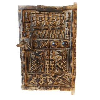 Mali African Dogon Door with Figures