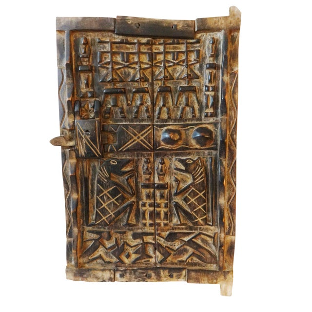 Mali African Dogon Door with Figures - Image 1 of 6