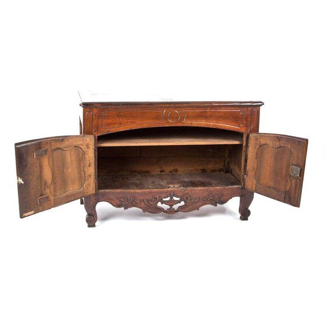 French Provençal Fruitwood Buffet With Carved and Pierced Skirt For Sale - Image 9 of 10