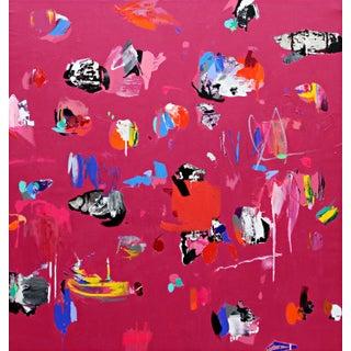 """Atlas Deep Magenta'' Painting"