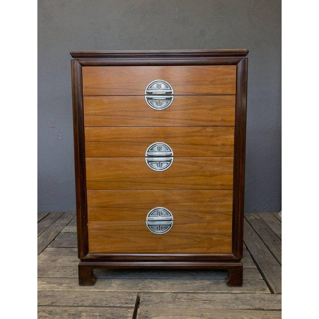 """American Midcentury """"chinese-modern"""" Chest of Drawers - Image 3 of 9"""
