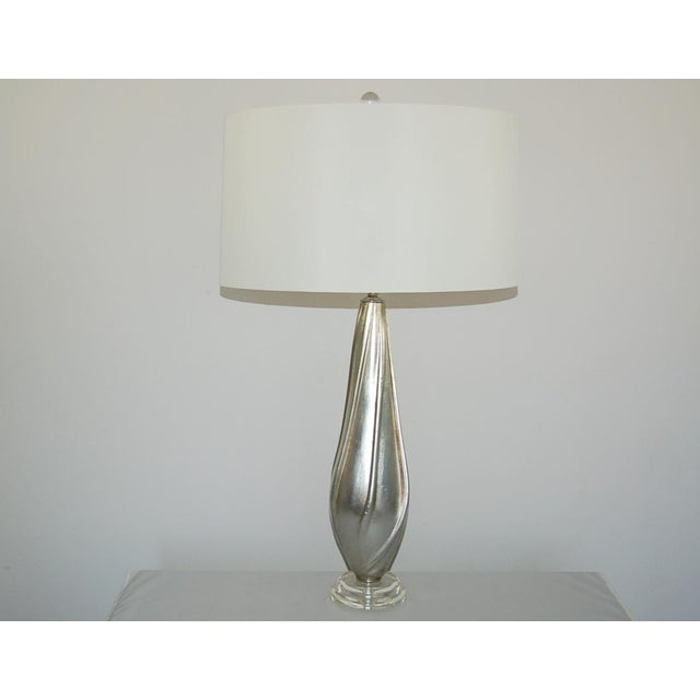 Silver Leafed Table Lamps by Swank Lighting For Sale - Image 9 of 10
