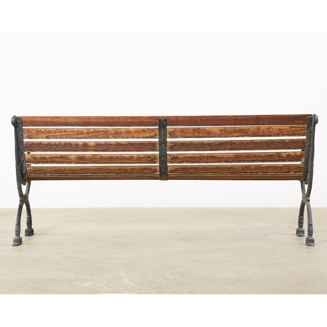 Neoclassical Style Cast Iron and Wood Park Bench For Sale - Image 12 of 13