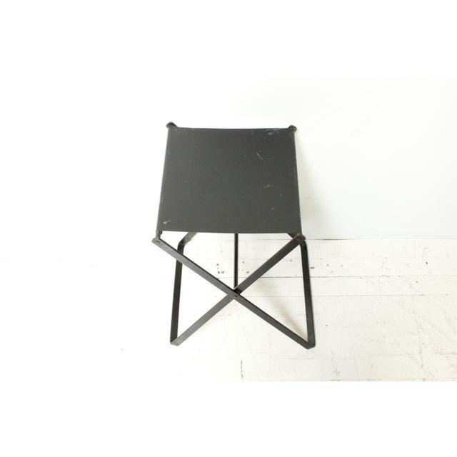 Metal X-Base Side Table - Image 3 of 4