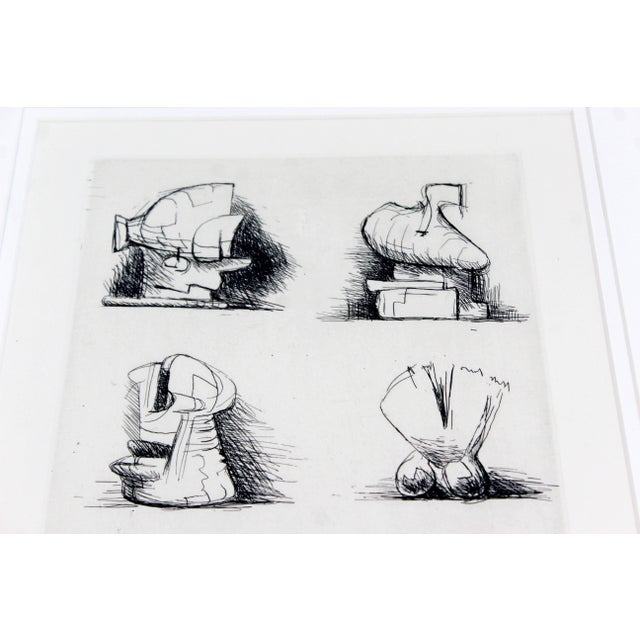 Mid-Century Modern Print Six Sculpture Motives Signed by Henry Moore 182/200 For Sale In Detroit - Image 6 of 10