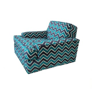 Mid-Century Modern Zig Zag Lounge Chair For Sale
