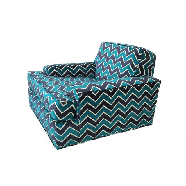 Mid-Century Modern Zig Zag Lounge Chair For Sale