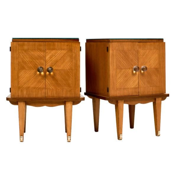 French Mid-Century Modern Side Tables - a pair For Sale - Image 10 of 10