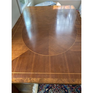Transitional Baker Furniture Cherry Dining Table With Inlaid Top Preview