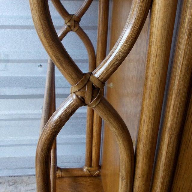 Boho Chic Vintage McGuire Rattan Drop Leaf Dry Bar/Bar Cart For Sale - Image 3 of 10