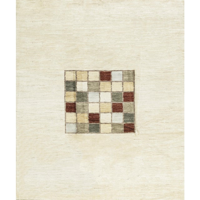 Contemporary Hand Woven Rug 8'8 X 10' For Sale