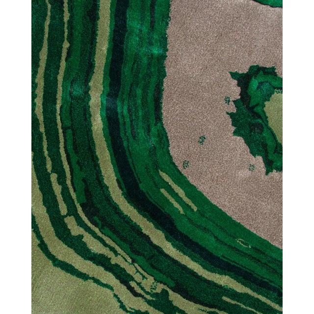 Contemporary Agatha Emerald Rug From Covet Paris For Sale - Image 3 of 5