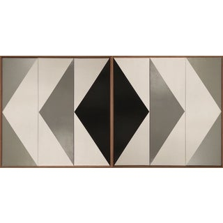 "Original Acrylic Painting ""Double Arrow Triptychs Jet0626"" For Sale"