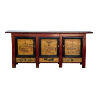 Late 19th Century Painted Chinoiserie Sideboard For Sale