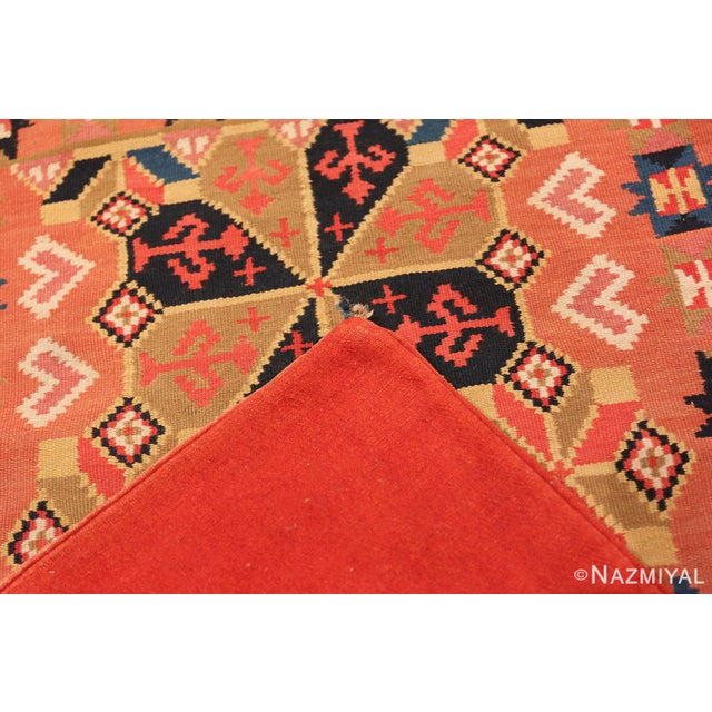 Mid 20th Century Small Vintage Swedish Kilim Scatter Rug - 1′11″ × 3′6″ For Sale - Image 5 of 8