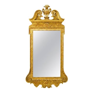 George II Gilt Gesso Mirror For Sale