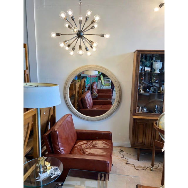 2000 - 2009 Contemporary Large Stone Wall Mirror For Sale - Image 5 of 6