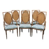 Image of Faux Bamboo Fruitwood Dining Chairs- Set of 6 For Sale