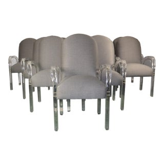 1970s Vintage Lucite Dining Chairs- Set of 10 For Sale