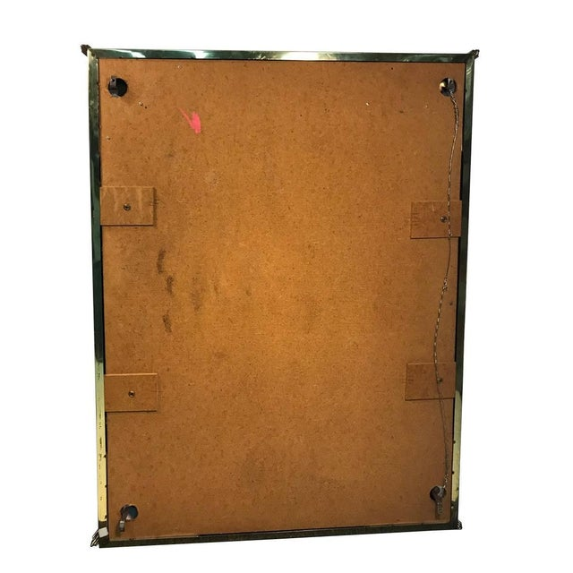 Mirror With Brass Trim and Bold Moldings in the Style of Mastercraft For Sale - Image 4 of 5