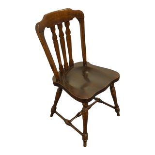 Ethan Allen Antiqued Pine Old Tavern Dining Side Chair For Sale