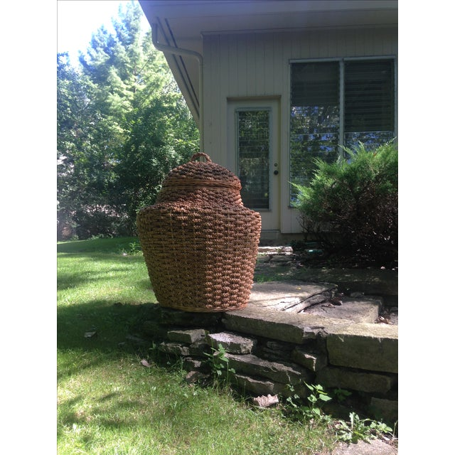 Giant Braided Seagrass Baskets - Pair - Image 4 of 7