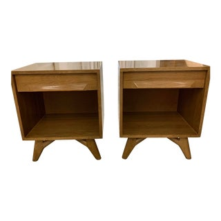 1950s Vintage Jack Van Der Molen Americana Nightstands-a Pair For Sale