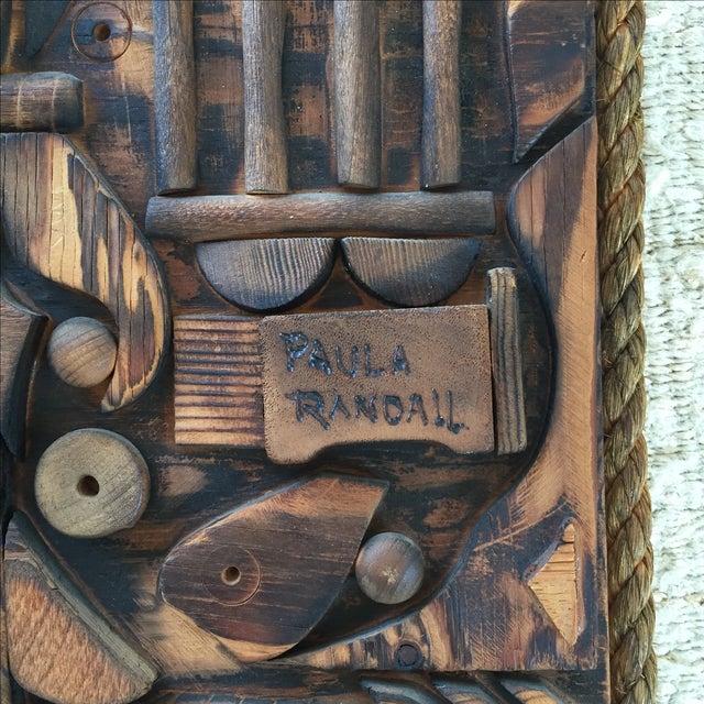 Wood Mosaic Collage Sculpture Paula Randall 1974 - Image 3 of 7