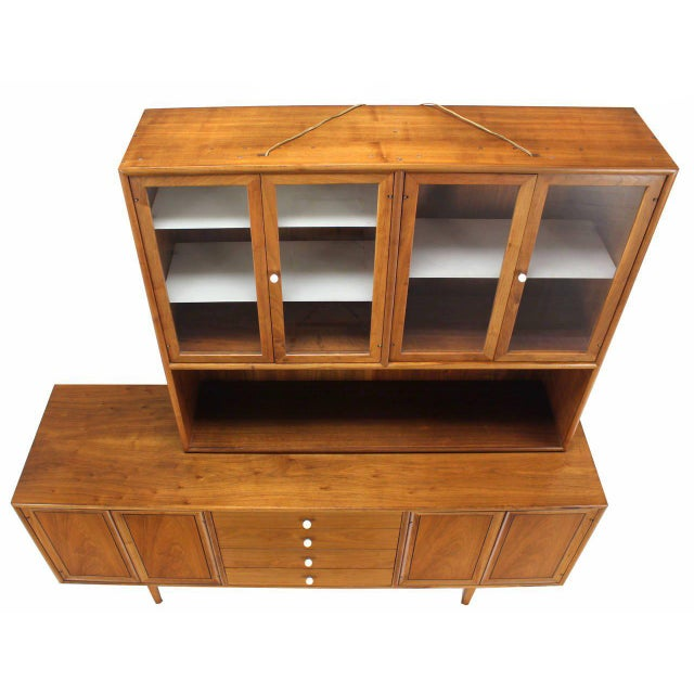 Mid-Century Modern Drexel Declaration Two Part Cabinet For Sale - Image 3 of 9
